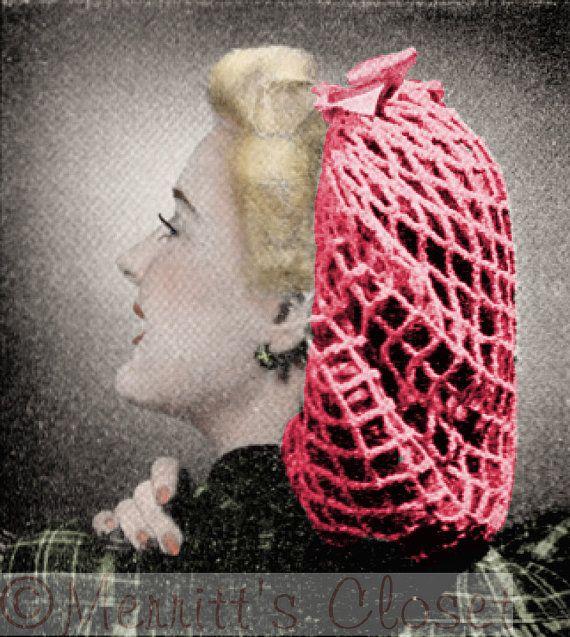 Favorite Hair Snood 1942 Hair Accessory Net Par Merrittscloset 40