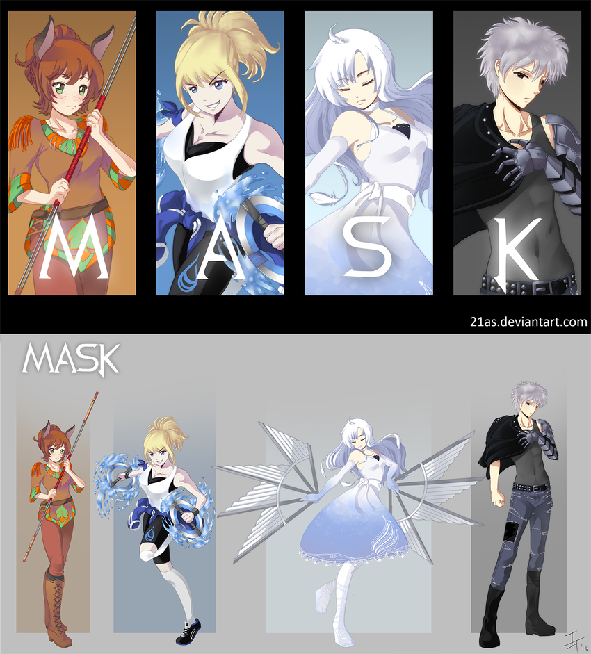 RWBY OC Commission: Team MASK by 21as | anime | Rwby, Rwby