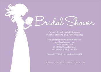 Blushing Bride Shower Invites Printable Bridal Shower Invitations