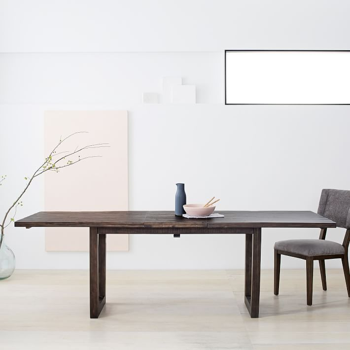 Logan Industrial Expandable Dining Table  Interior Design Picks Unique Dining Room Tables Expandable Design Inspiration
