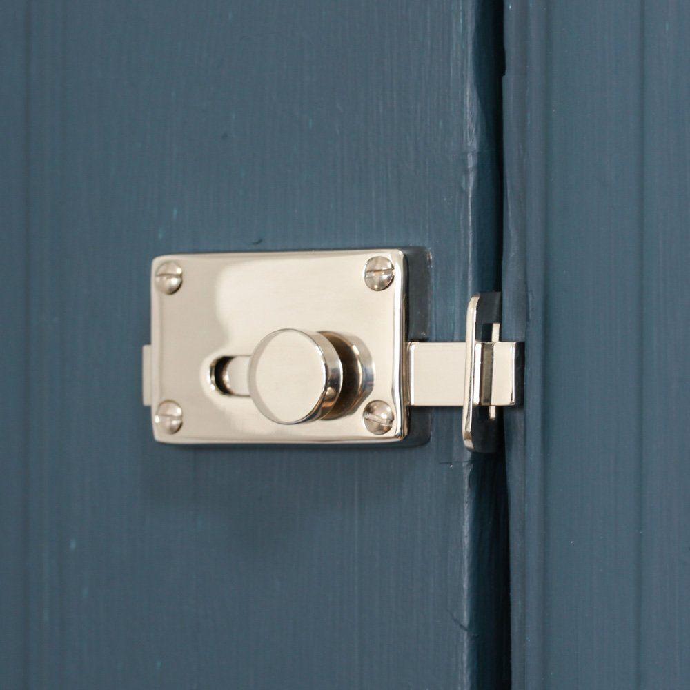 Polished Nickel Vacant Engaged Lock Door Doors Polished