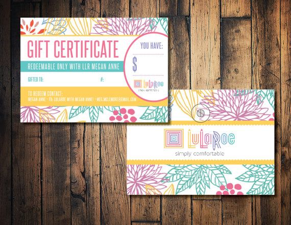 lularoe gift card lularoe gift certificate card by thewrightinvite