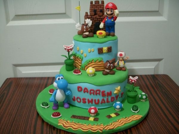 super mario cake super mario torte pinterest deko. Black Bedroom Furniture Sets. Home Design Ideas