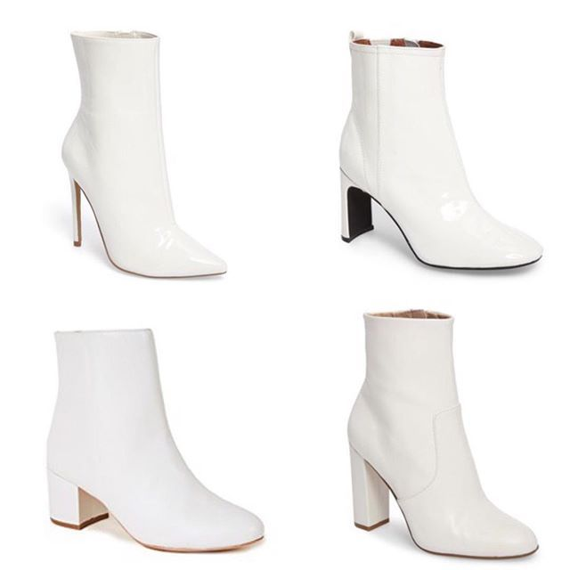 White ankle boots, White boots outfit
