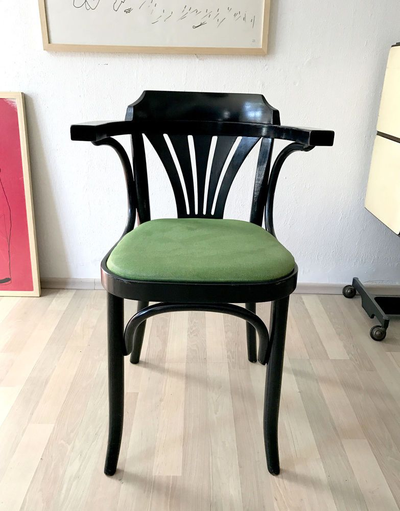 1of20 VINTAGE BENTWOOD THONET STYLE BISTRO CAFE CHAIRS LACQUERED WOOD  #ArtNouveau