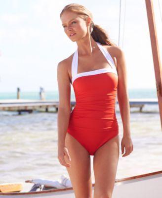 74188ef43d9a8 Anne Cole Swimsuit, Spaghetti-Strap One-Piece - Womens Swimwear - Macy's