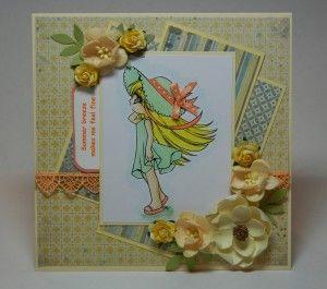Summer Breeze- diy paper crafting card