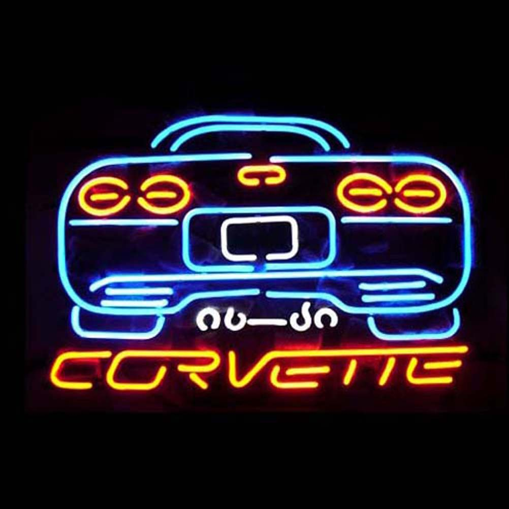 Corvette Shop Open Neon Sign///How I love you neon signs , Real nice for my Home Bar Deco