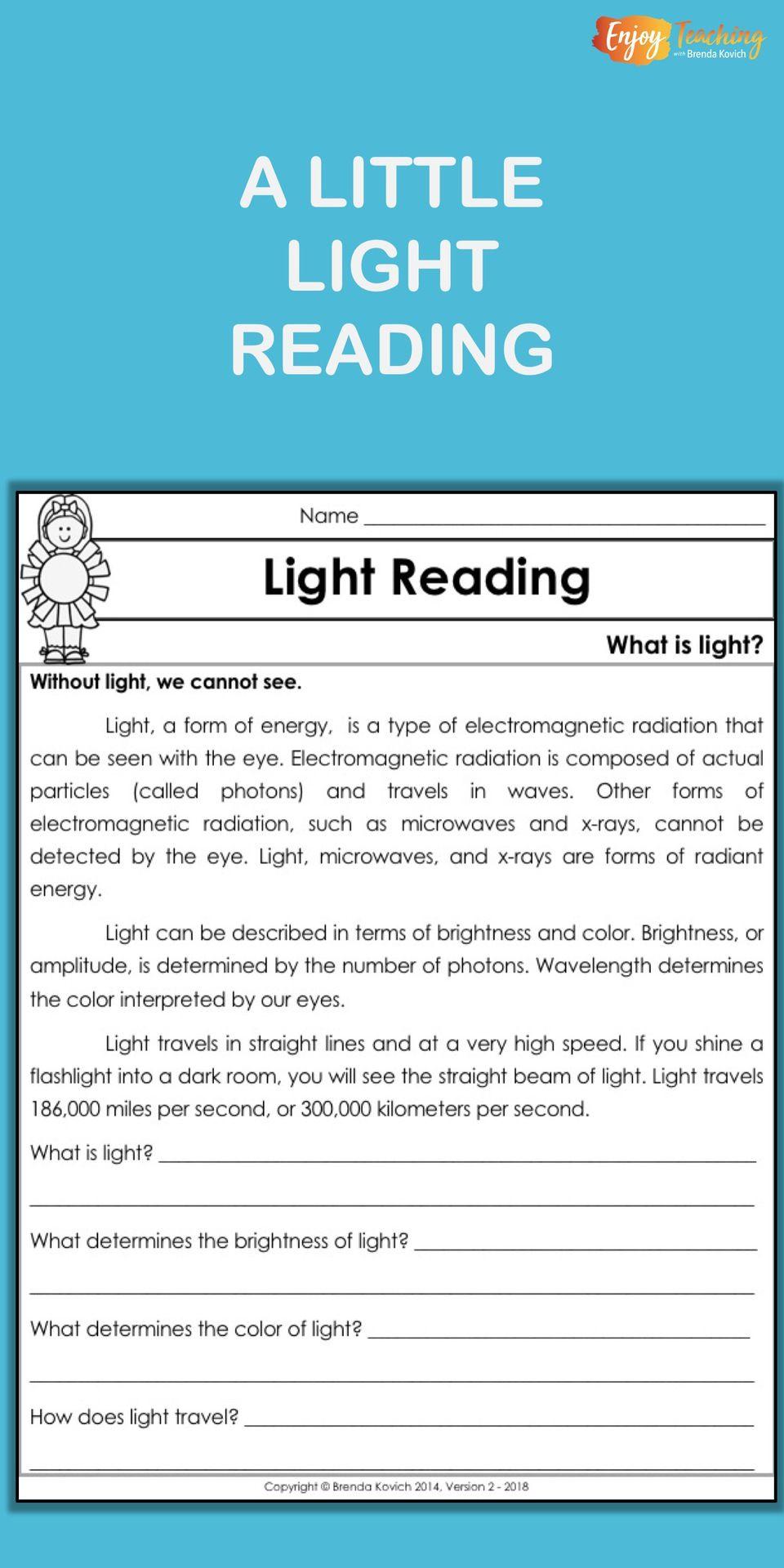 Enjoy Teaching Light With Physics Activities For Kids Science Light Activities Light Science Fourth Grade Science