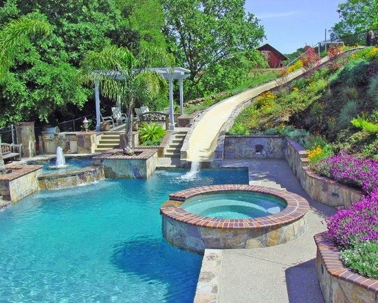 Amenagement piscine exterieur 399.jpg (550×440) | ρΦΦ£$ | Pinterest ...