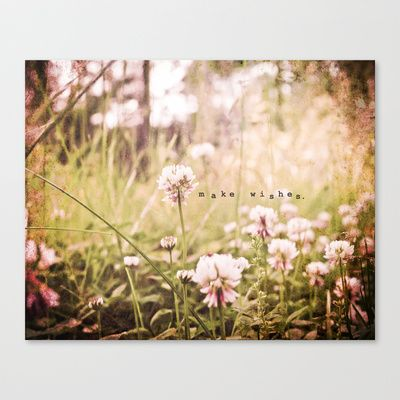 Make Wishes Stretched Canvas by Jenndalyn - $85.00