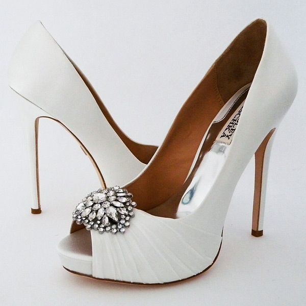 Pettal Wedding Shoes By Badgley Mischka. Available In Classic White Or A  Sophisticated Pink. Which Do You Prefer?