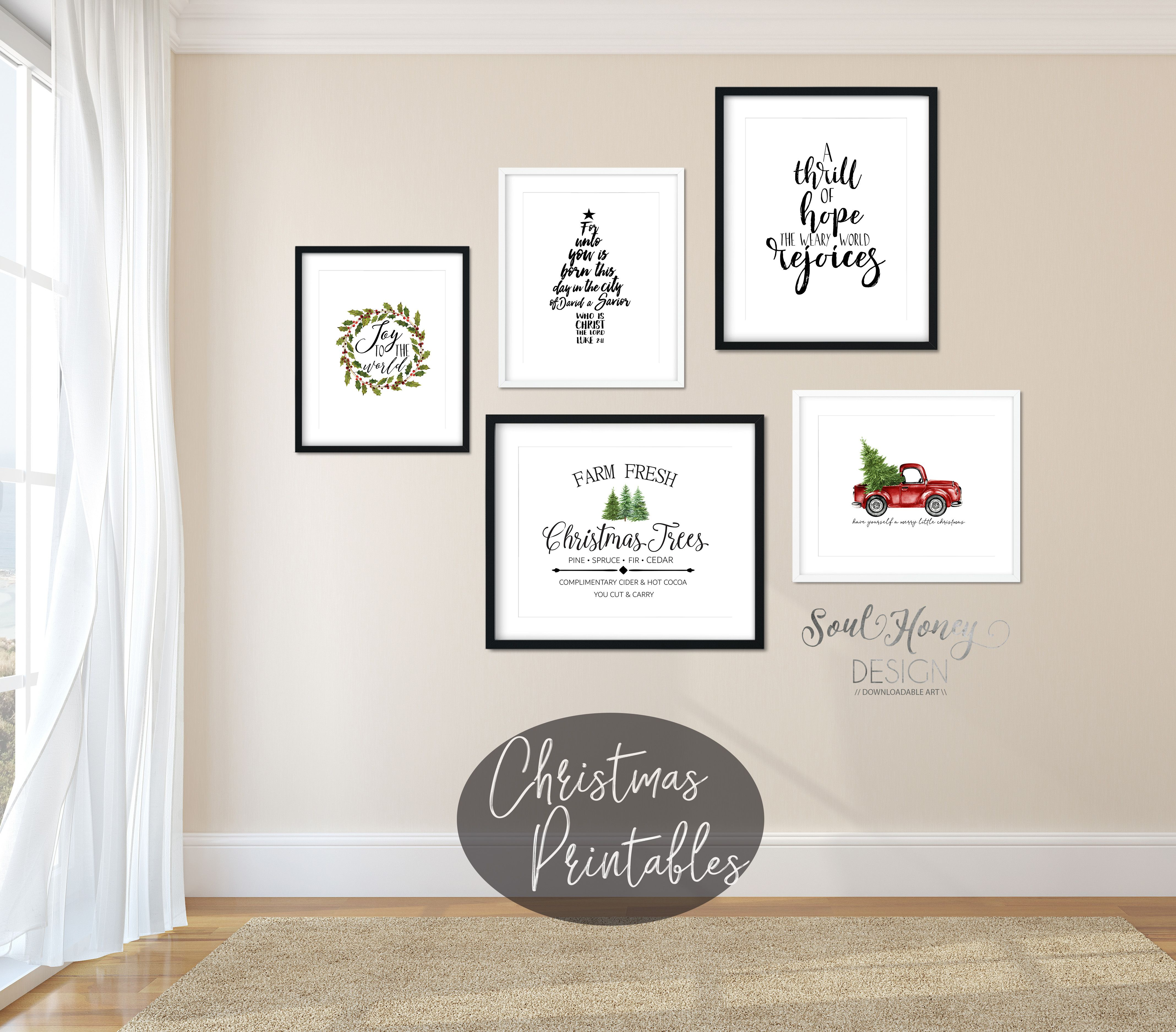 Christmas and holiday prints are BUY 3 GET 30% off with code HONEY30 ...
