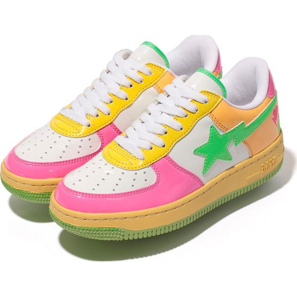 BAPE Polyvore STAAP€230❤ on liked PATENT NEON COLOR 1clKTFJ3