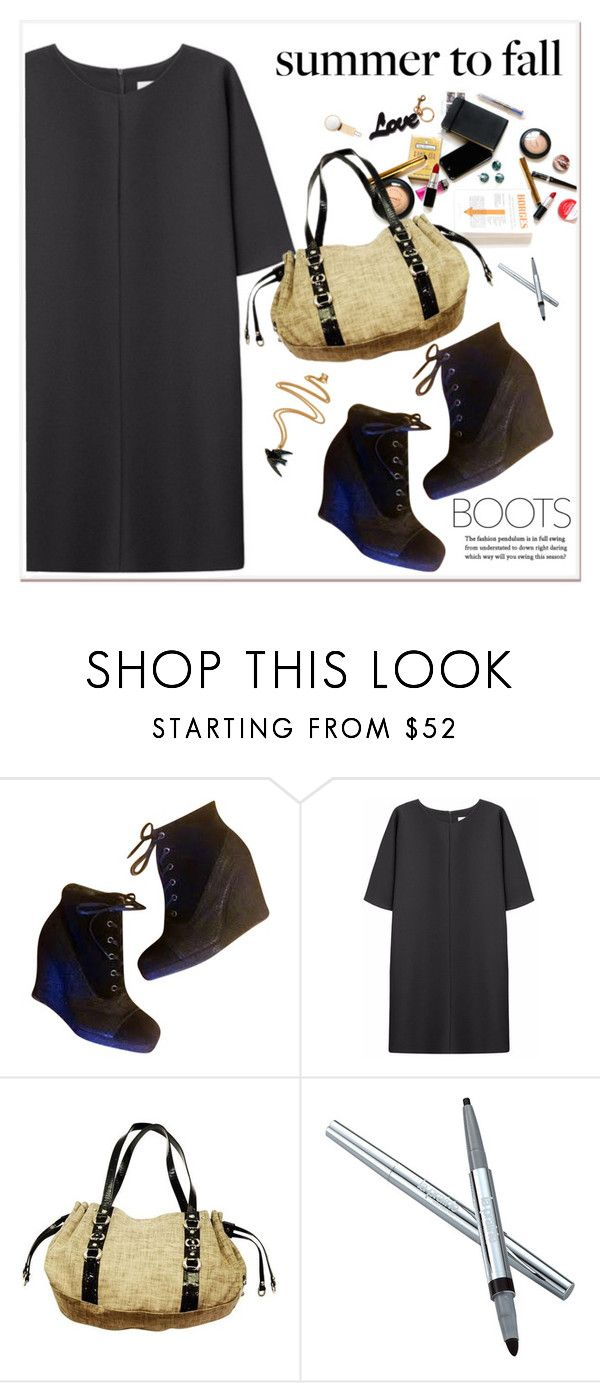 """""""LACE EM UP"""" by adduncan ❤ liked on Polyvore featuring Stuart Weitzman, Non, STELLA McCARTNEY, La Prairie and laceupbooties"""