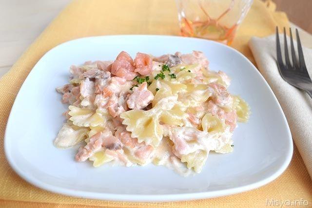 Farfalle al salmone ricetta primi piatti first for Ricette italiane primi piatti