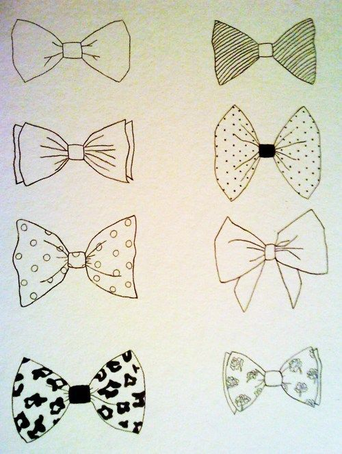 Bow Tie With Laces Tattoo Drawing