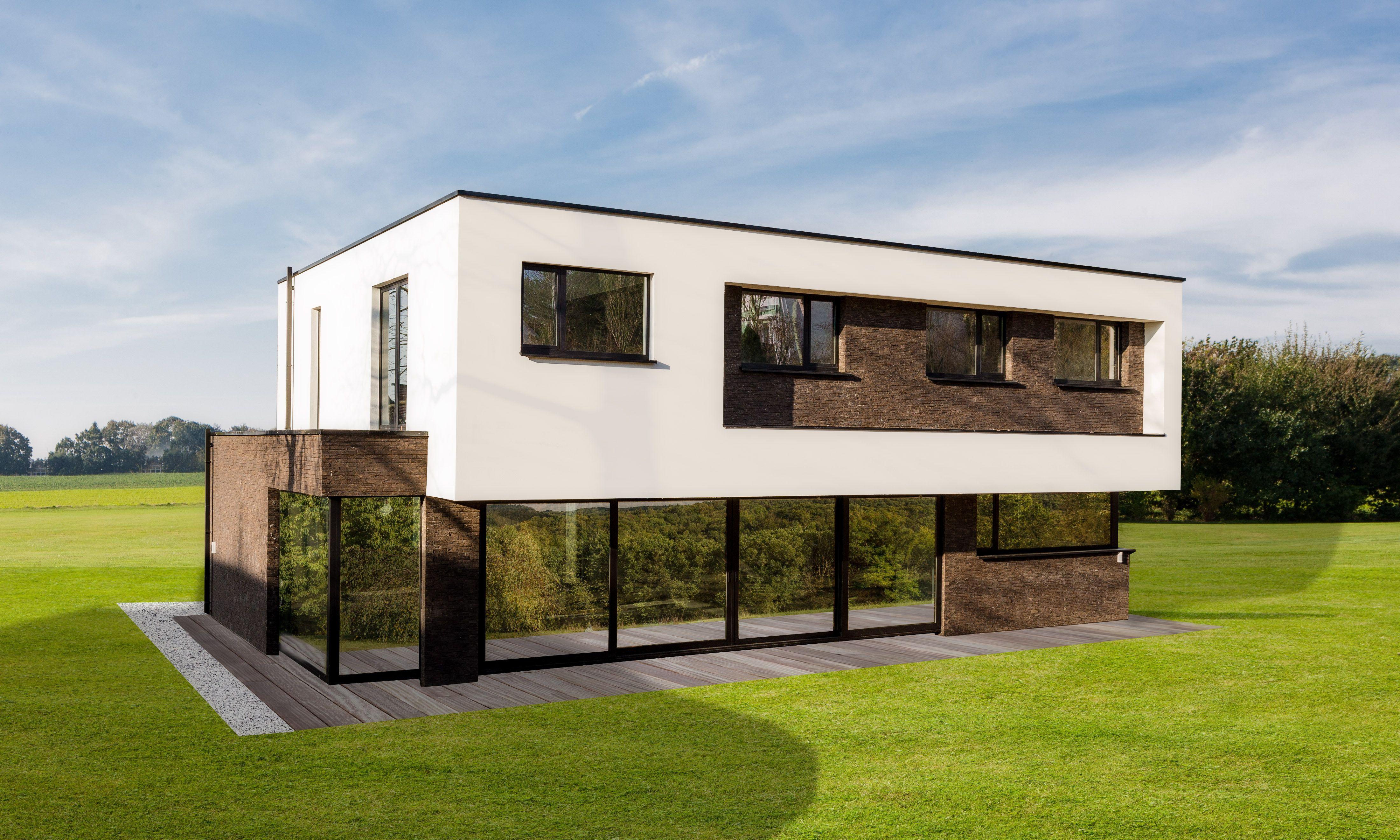 Maison moderne toiture plate | Inspirations maisons modernes ...