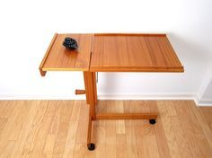 Genial Furniture, Teak Modern Wooden Coffee Table TV Tray With Wheels And Leaf  Ideas ~ TV Tray Table