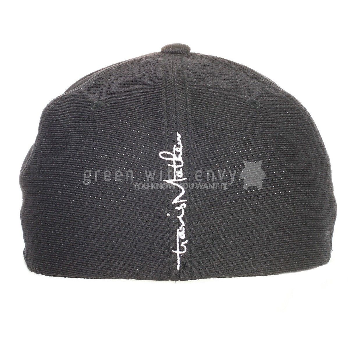 d70b6b1fb Soft mesh hat with flex fit band. Embroidered TM logo with outline ...