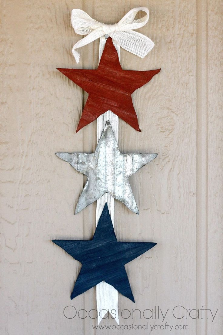 Tin Star Wall Banner Perfect For Any Patriotic Holiday Or To Add Your Americana Decor