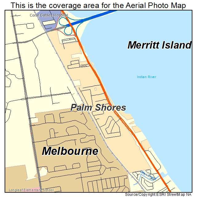 Where Is Merritt Island Florida On The Map.Palm Shores Fl Map Aerial Photography Maps This Is It