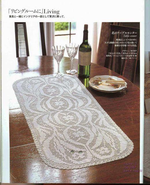 PATRONES GRATIS DE CROCHET: Camino de mesa | tapetes | Pinterest ...