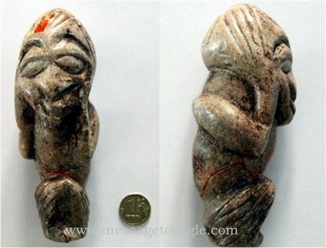 Mysterious Ancient Humanoid Figurine Unearthed In Russia - MessageToEagle.com