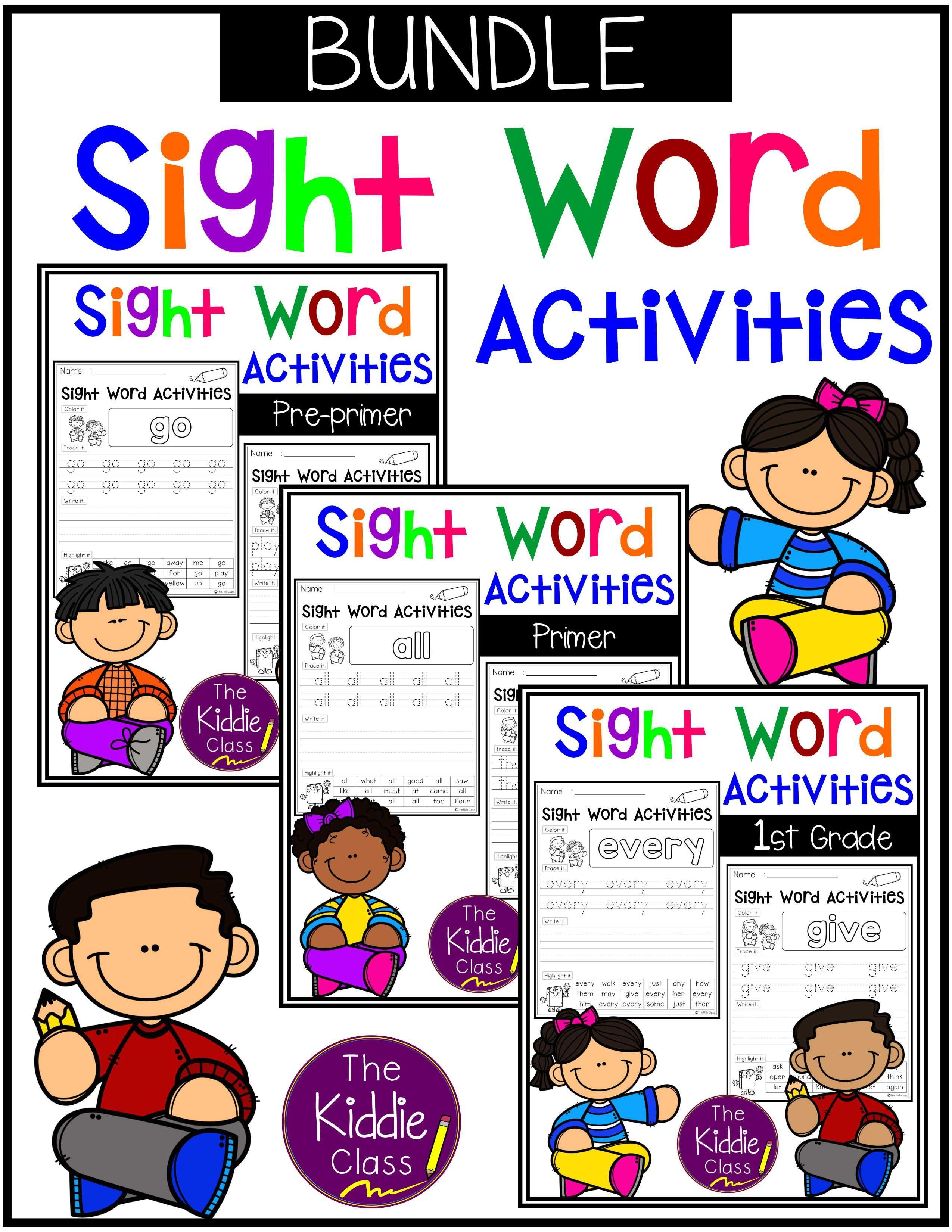 Sight Word Activities The Bundle There Are 133 Pages Of