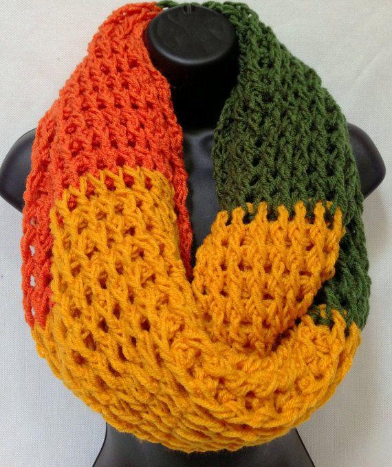 Autumn Infinity/ Round/ Circle Crochet Scarf   Bufandas   Pinterest ...
