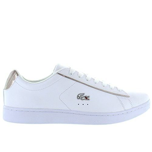 Lacoste Damens's Carnaby Sneaker,Weiß EVO 316 Sneaker,Weiß Carnaby Textile,US 8.5 M ... 0b954f