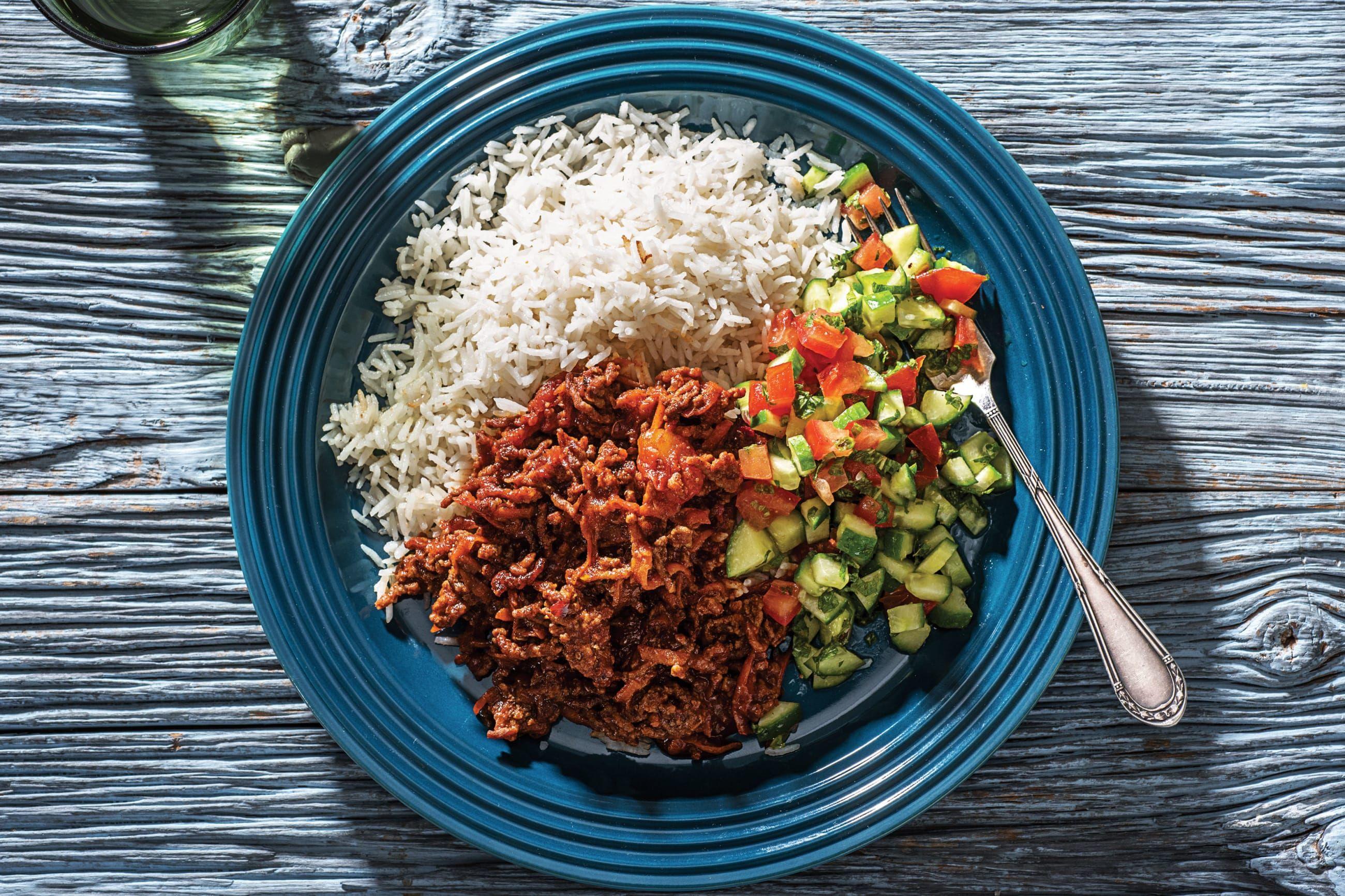 Beef Chilli with Rice Recipe | HelloFresh | Beef, Rice ...