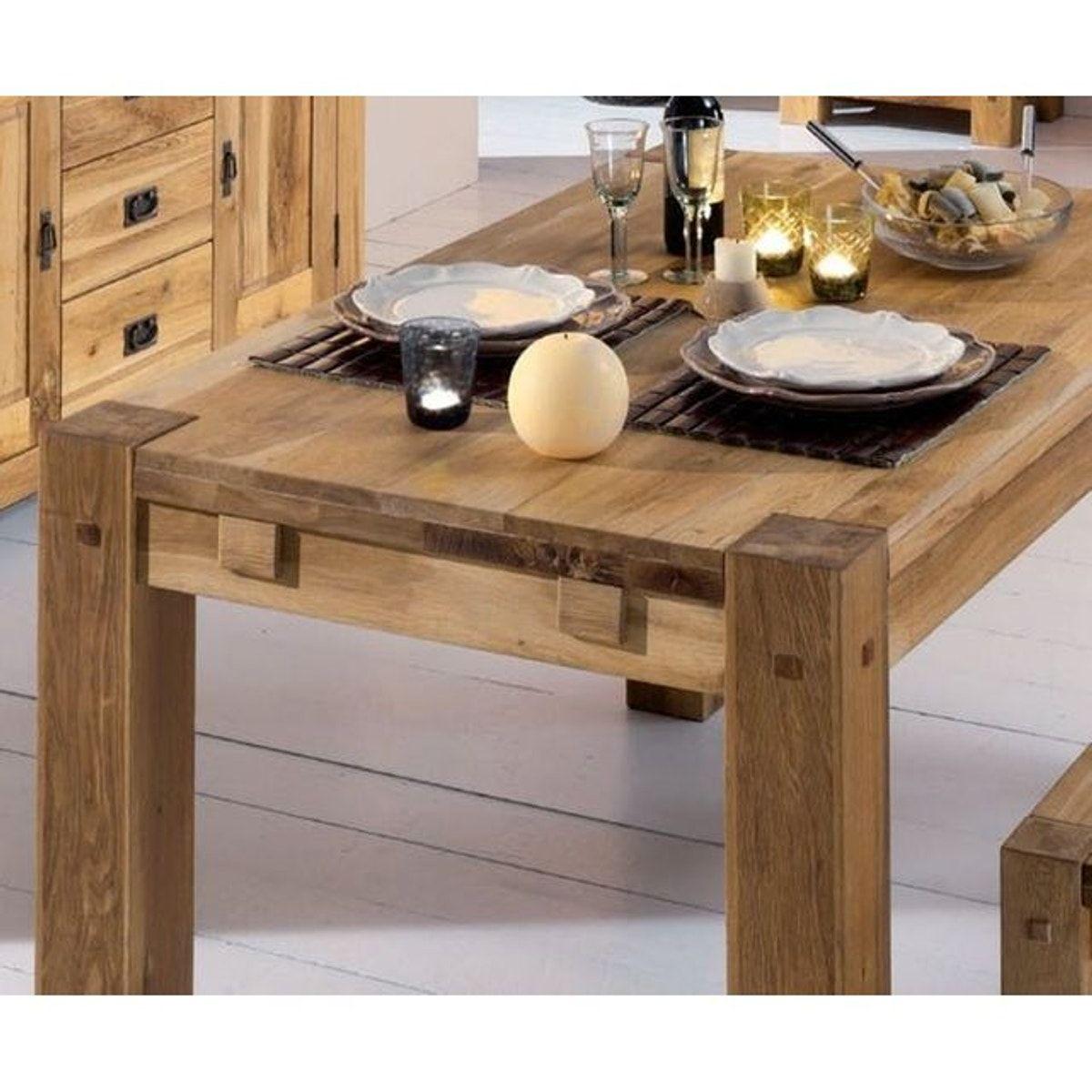 Table De Salle À Manger Carrée Extensible table À manger carrée contemporaine en chêne massif 120cm