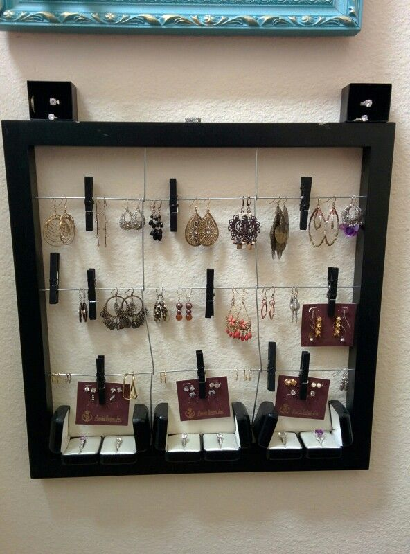 Earring and jewelry display or organizer bought from Michaels it