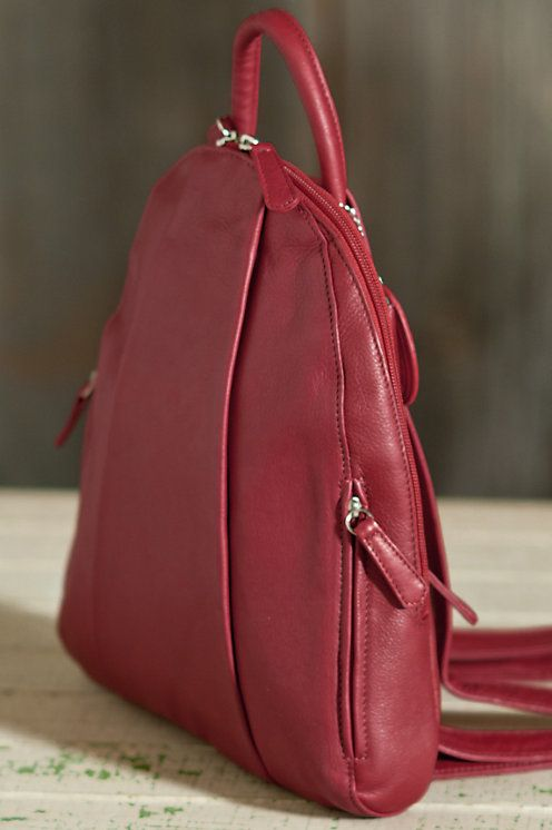 Teardrop Leather Backpack Handbag | Overland