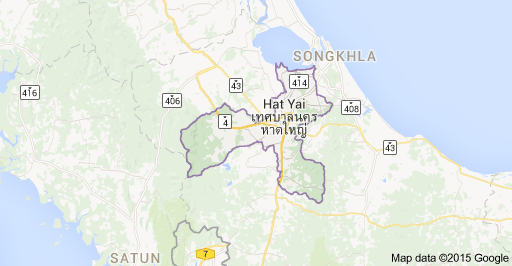 Map of Hat Yai District Songkhla Thailand Hat Yai Thailand