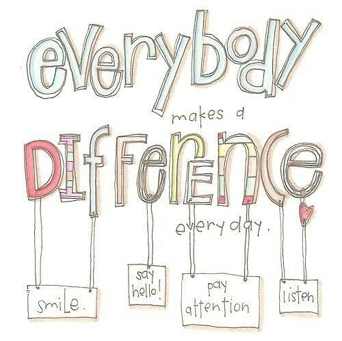 You Make a Difference...