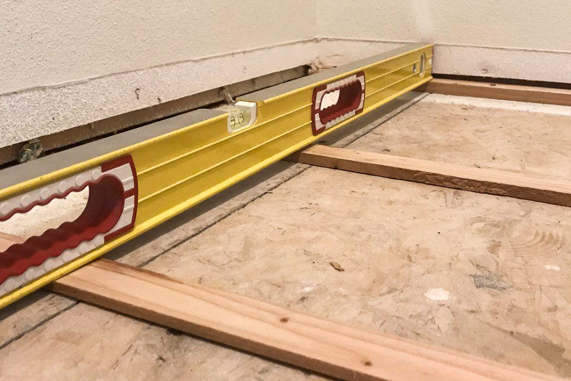 How to Fix an Uneven Subfloor   DIY Home Improvement ...