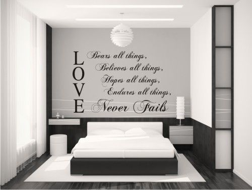 Master Bedroom Wall Quotes Our Vinyl Is Matte Finish And Looks Hand Painted On The Walls If You