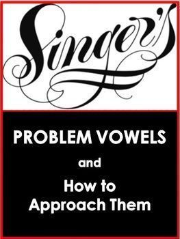 MUSIC: Choir/Vocal Problem Vowels  FREE download