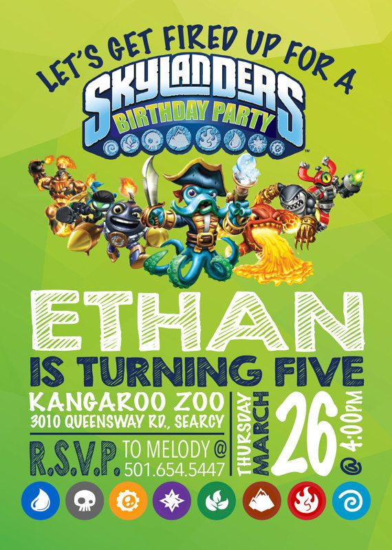 Skylanders Birthday Invitation By EmryPRINTS On Etsy