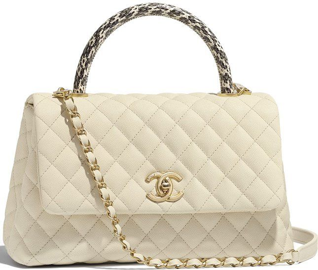 c11ecf946ac6 Chanel Coco Handle Bag With Elaphe Handle   chanel love in 2019 ...