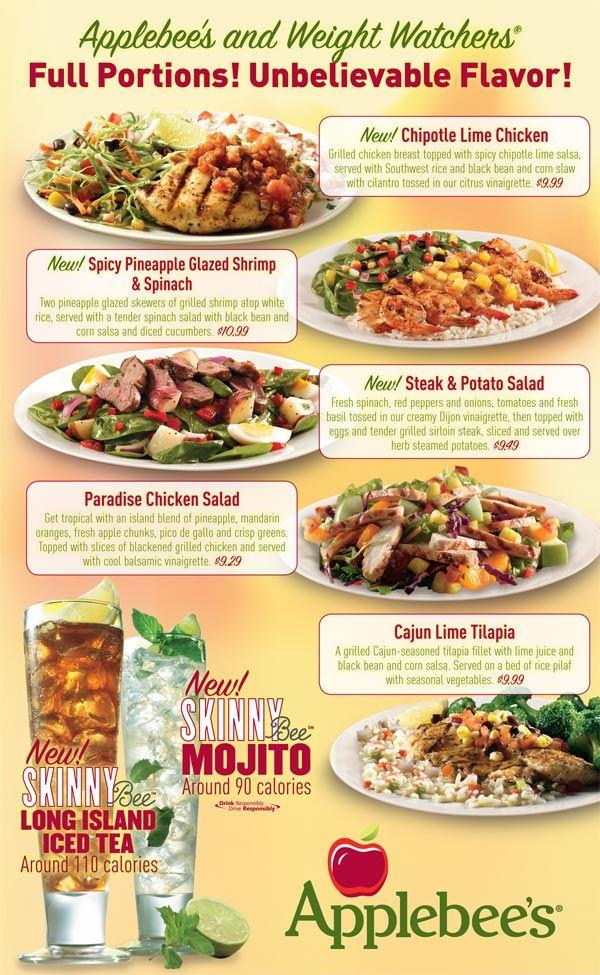 Restaurant Menu Weight Watcher Points