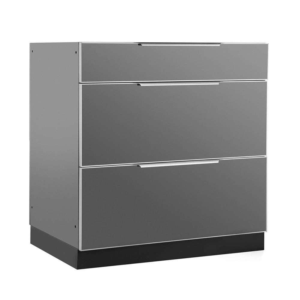 Best Newage Products 65202 32 In Aluminum 3 Drawer Outdoor 640 x 480