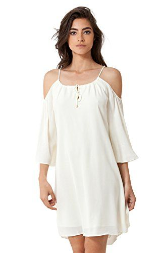b5fcbe2d4c3cde Hale Bob Women's Kiki Cold Shoulder Smock Size Small White * Check out @