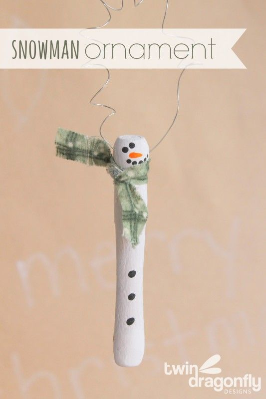 Snowman Ornament. Easy Enough to Make With the Kids!