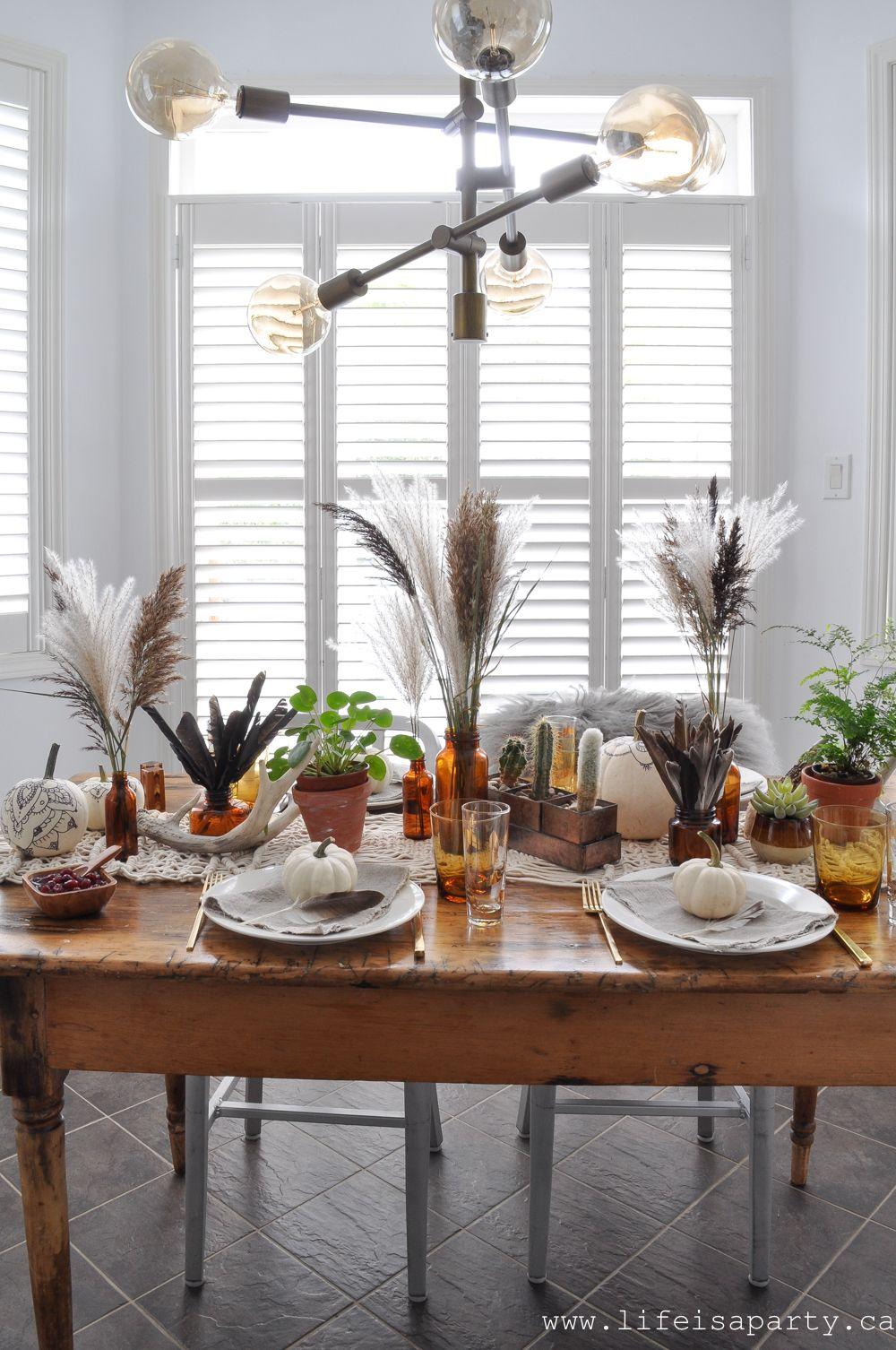 elements of boho style for a boho thanksgiving table decor fall living room decor boho style on boho chic kitchen table decor id=49984