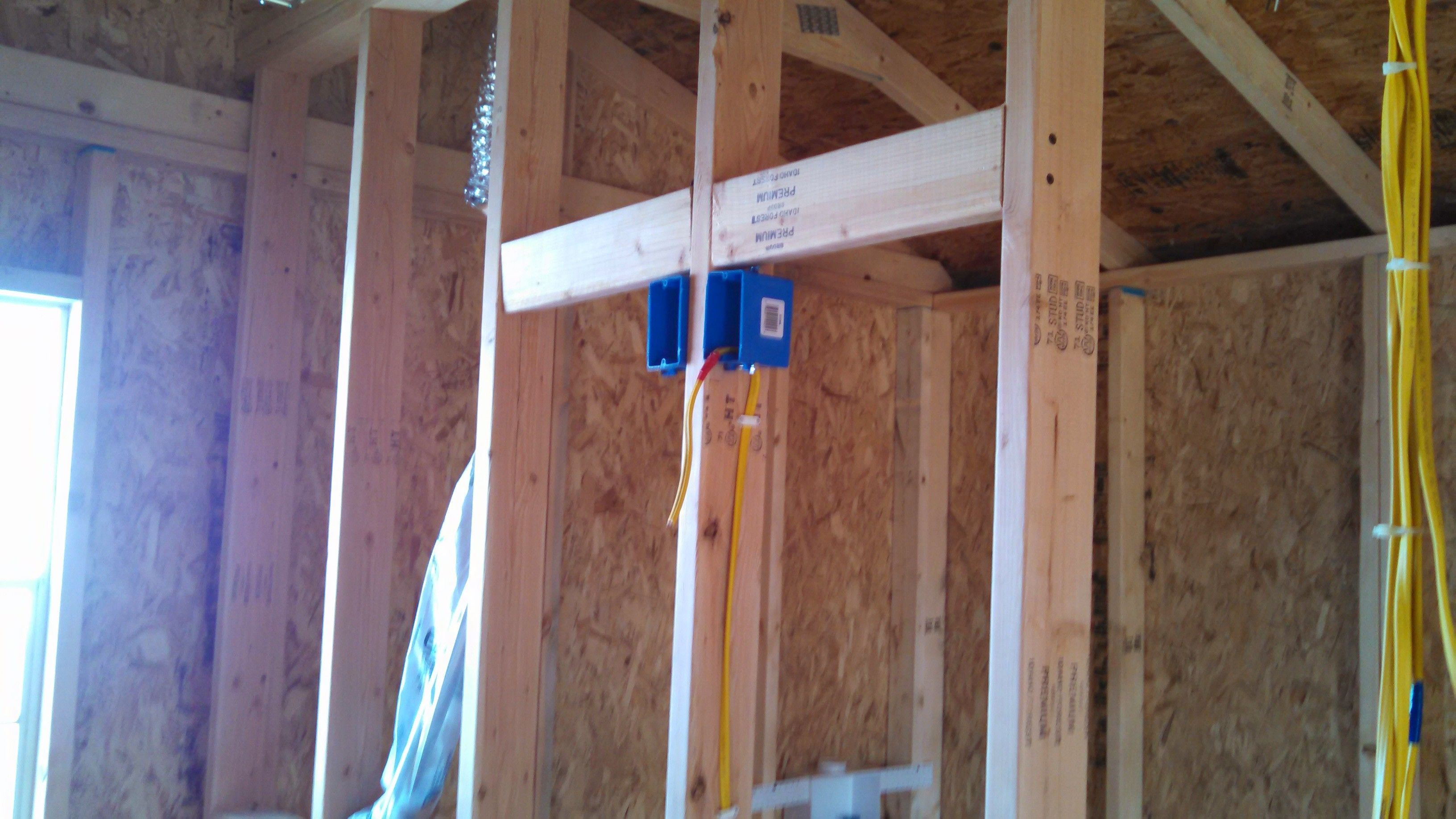 Blocking Done For The Tv Mount In Bed Room Tiny Home Outlet 4 Prong Wiring A Stove Http Www Hammerzone Com Mounted