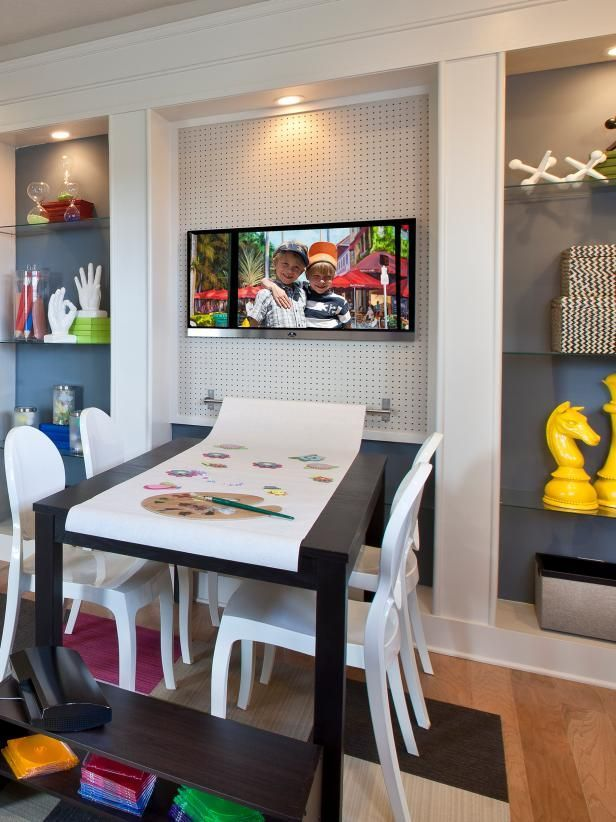 20 Kid-Friendly Spaces for Work + Play  20 Kid-Friendly Playrooms and Homework Stations With Style | HGTV  #KidFriendly #Play #Spaces #Work