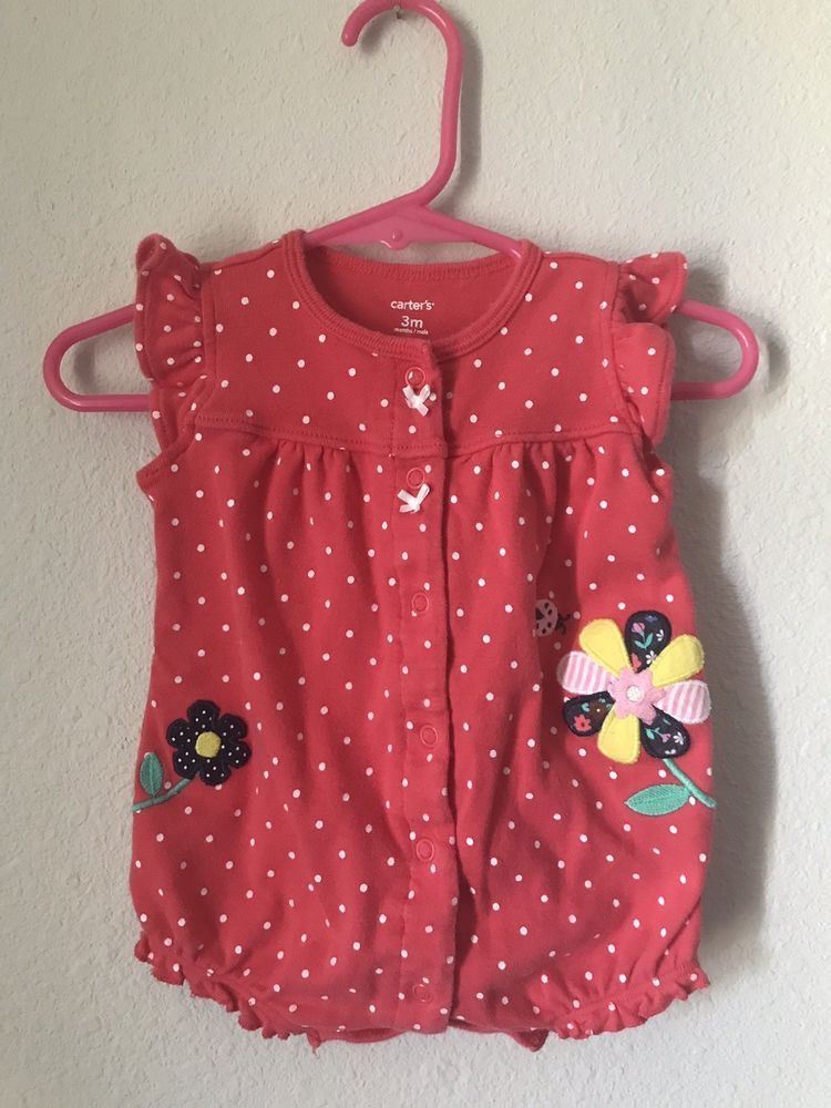 43ff80f3e1c Carter s girl s red romper size 3 month  fashion  clothing  shoes   accessories  babytoddlerclothing  girlsclothingnewborn5t (ebay link)